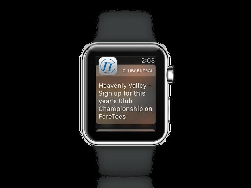 Apple Watch Push Notification