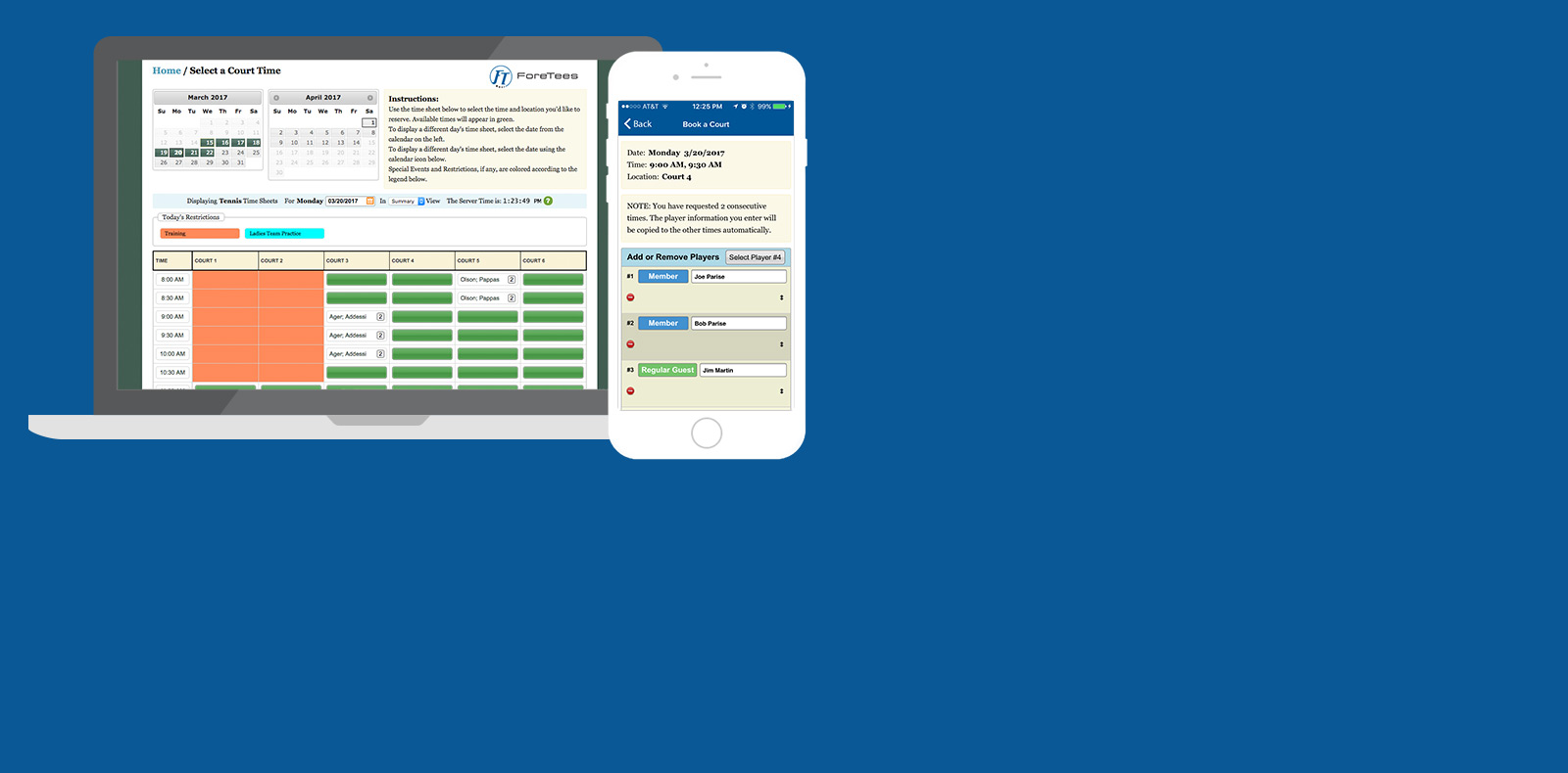 courts reservations software